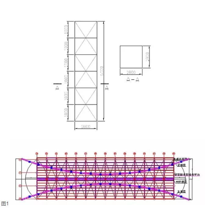 大跨度拱形钢结构安装施工工法