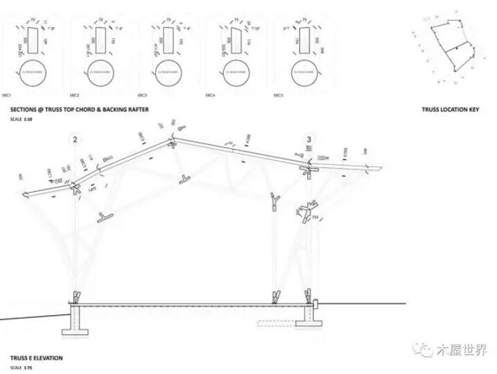 首页 专栏 装配式钢结构,木结构 > 树干造棚,就地取材,融于自然  由