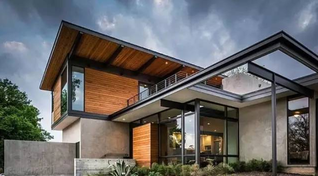 双层砖木结构别墅图片