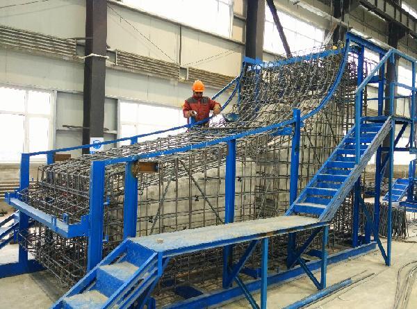 吉林:长春地铁2号线预制装配式车站 首环砼预制构件顺利浇筑完成
