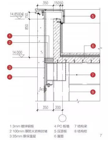 pc外墙与屋面结构防水构造