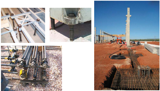 (5)使用范围: - 预制混凝土柱子连接; - 钢结构柱子的接头与连接