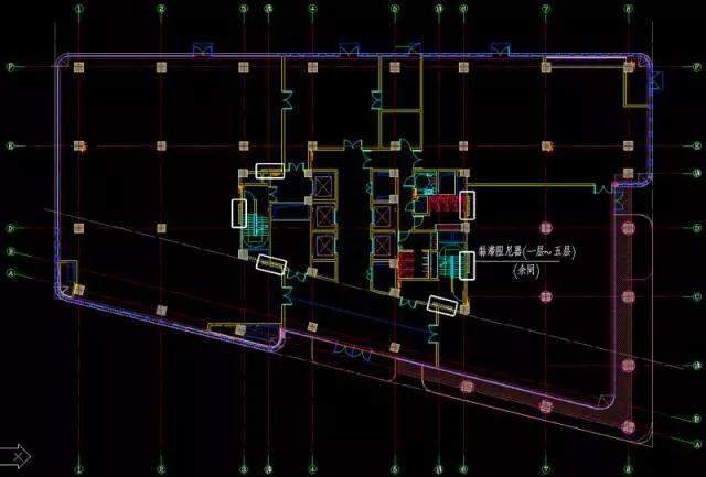 西1楼阻尼器布置图 装配整体式混凝土框架结构简化节点连接 为解