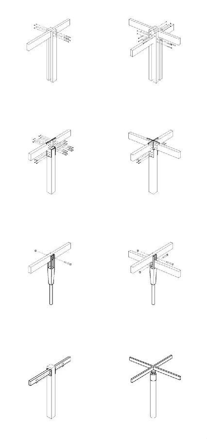 首页 专栏 装配式钢结构,木结构 > 钢木结构景观构筑物的细部设计形式