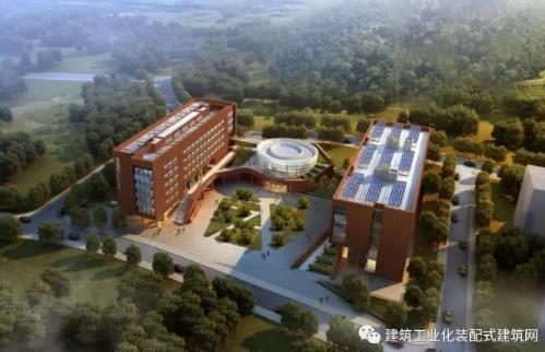 山东建筑大学装配式教学实验综合楼通过被动式建筑实体验收图片