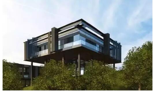 与自然和谐相处的零碳建筑将成为趋势,从几十平米的装配式预制房屋,到几十万平米的装配式预制酒店,再到零排放城市社区,有理由相信,零碳装配式建筑这种集环保、生态、自然、科技于一体的建筑产业将获得蓬勃的发展。本文中建于屋顶的零碳馆是建筑工业化产业技术创新战略联盟副理事长单位华建集团的工程建设咨询公司设计团队对零碳装配式建筑多年研究的一次实践。  项目实施方案鸟瞰图 一、走向自然的装配式零碳建筑 回顾人类建筑的发展史,最早出现的建筑更多地是作为人类遮风避雨和抵御严寒及猛兽的庇护所;那时除了取暖、照明、烹饪消耗