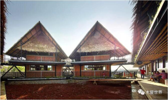 【木结构】有着抛物线屋顶的的地方特色学校