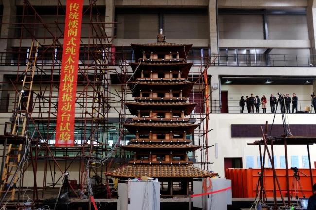 """近日,上海市科学技术委员会科研重点支撑课题""""传统楼阁式高层纯木结构"""