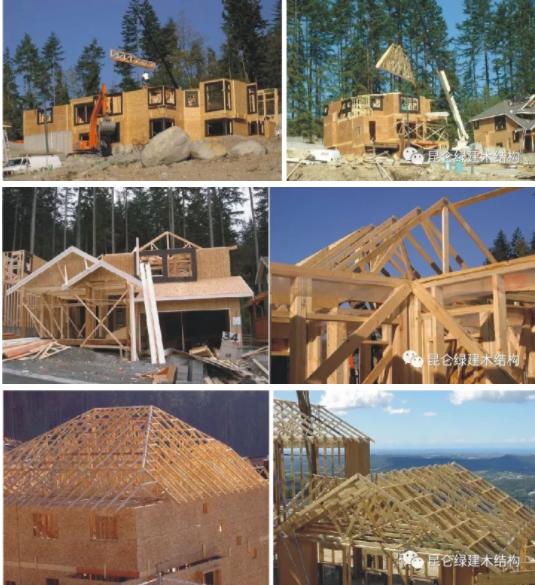 建造完成,静候入住 轻型木结构所有结构构件和连接件都是标准化生产