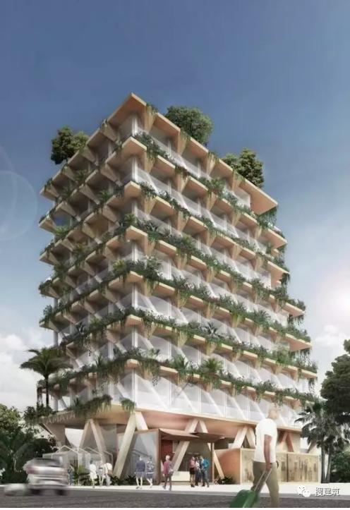 一种新型木结构高层建筑