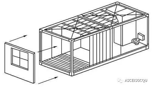 其承重结构一般有两种形式,一种是由柱,梁组成承重框架,再搁置楼板和