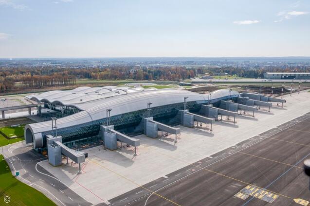 萨格勒布机场展现的钢结构之美
