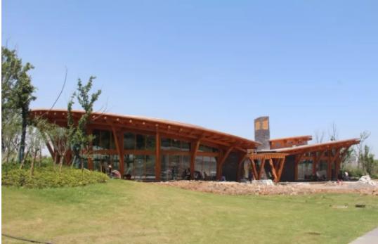 南京河西生态公园展示馆木结构设计