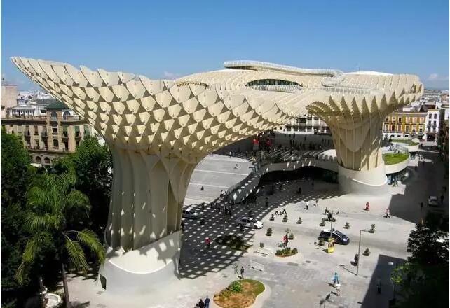 世界规模最大的木结构建筑西班牙metropol
