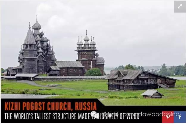 木结构建筑的俄罗斯kizhi