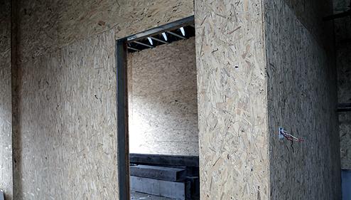 建筑材料采用环保木板