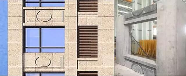 后期安装grc线条,不增加预制混凝土构件种类实现法式立面风格图片