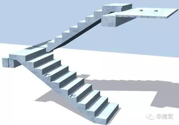 预制楼梯深化设计三维图