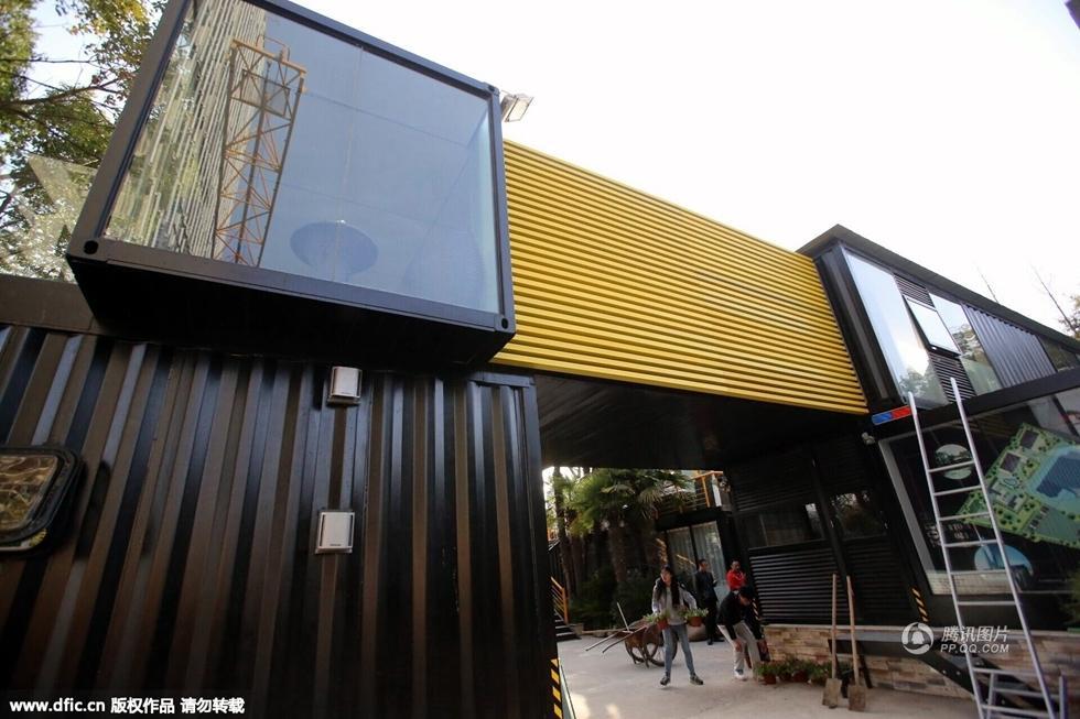 上海現集裝箱建筑群 造價百萬媲美星級賓館