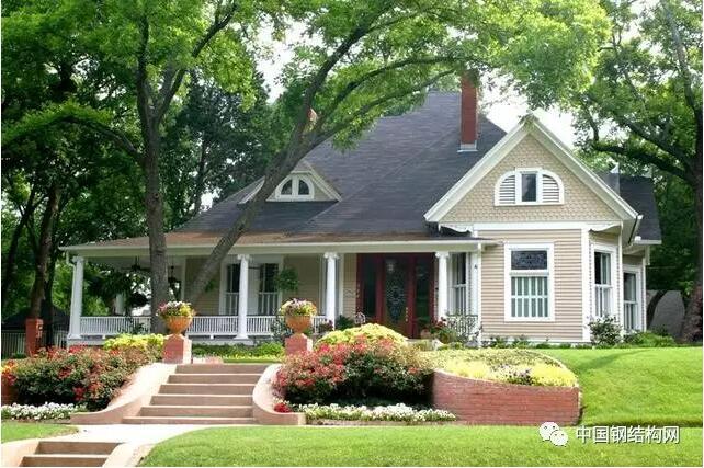 輕鋼結構別墅外觀造型豐富多樣