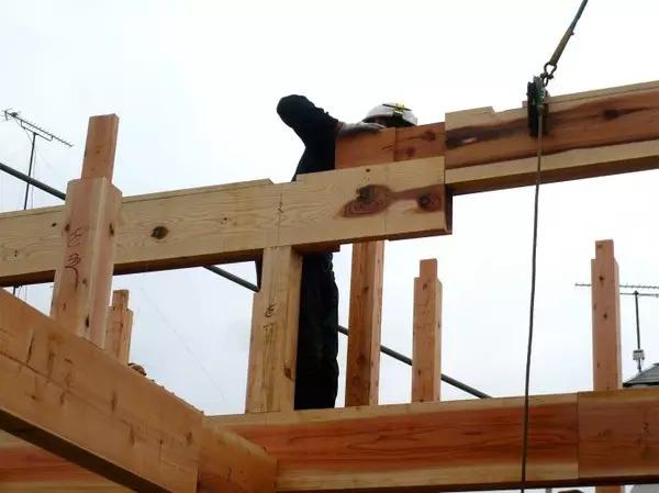 木结构承重框架,系统搭建过程中,梁与梁续长