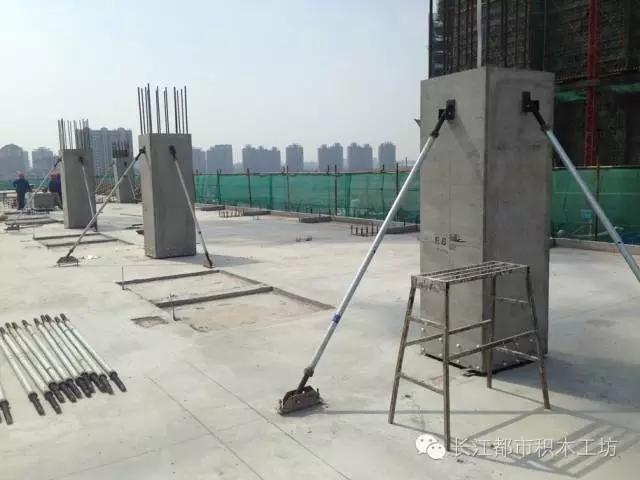 三栋建筑采用的预制技术为: 结构主体竖向构件框架柱采用预制混凝土