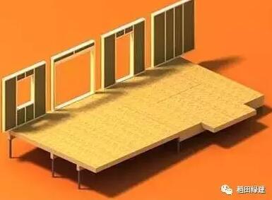 木结构 > 高度预制化的木结构建筑  轻型木结构从楼板,外围护墙体