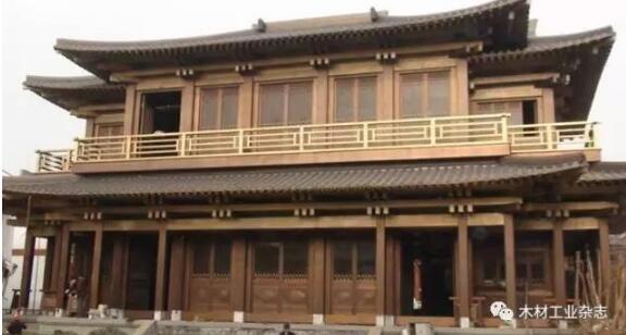 6m,目前为世界现代木结构佛教建筑之最.
