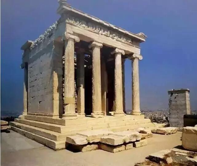 古希腊式建筑 古希腊人建筑神庙的灵感来源于古埃及人,他们将埃及图片