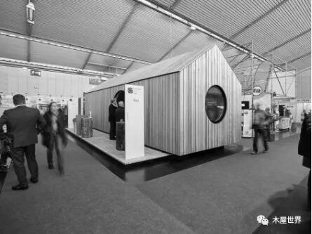 【木结构】可移动的木屋展厅 / ima
