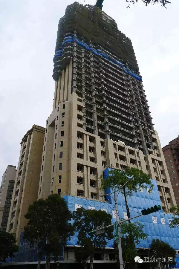 台湾地区润泰pc外墙应用于钢结构大楼已建成五十几个