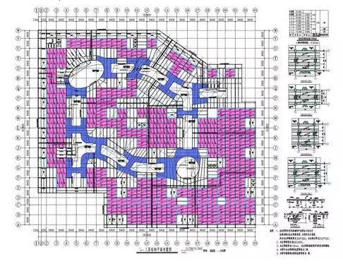 图23 典型楼层结构平面布置图