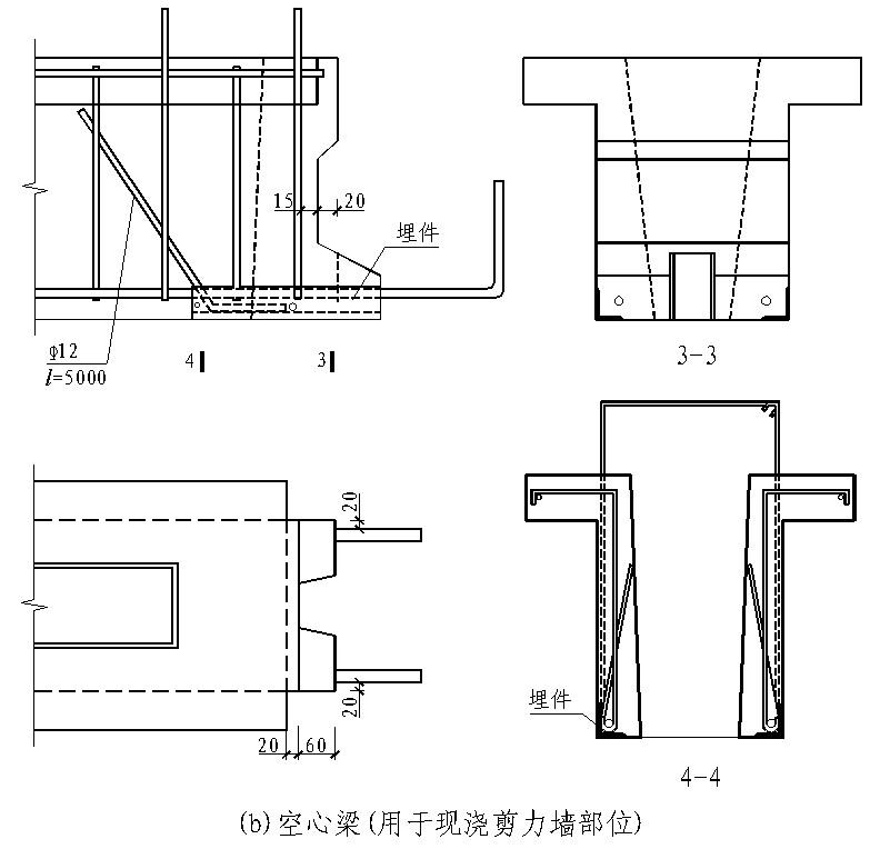 专栏 装配式钢结构,木结构 > 装配式混凝土叠合受弯构件整浇式节点应