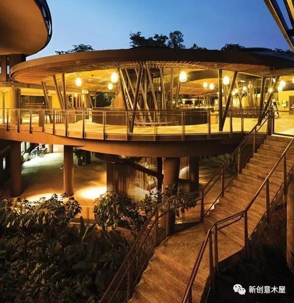 新加坡河川生态园木结构建筑