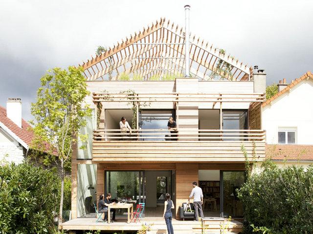 巴黎简约木质生态屋