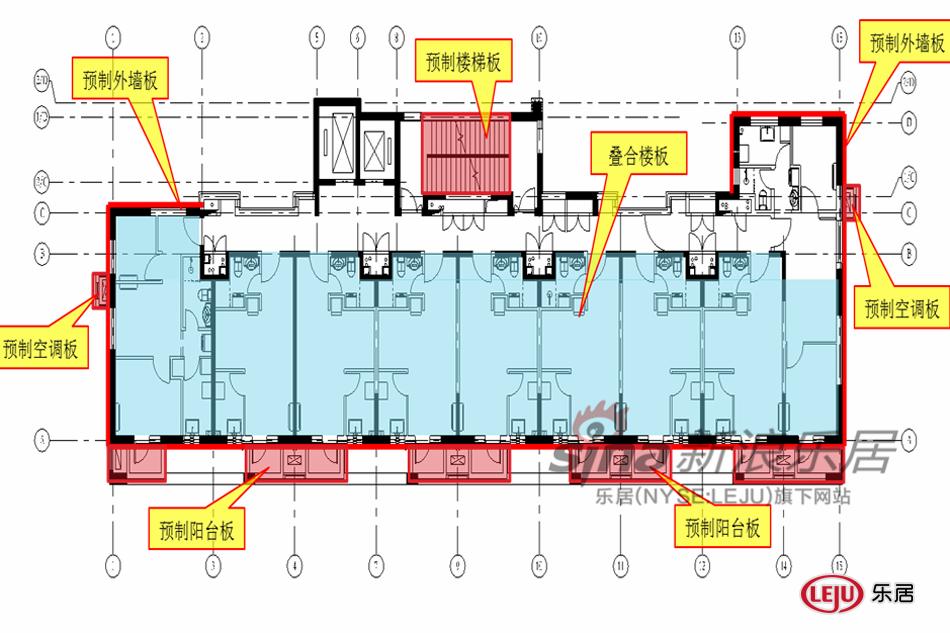 图为赵钿先生提供的装配式建筑设计图.