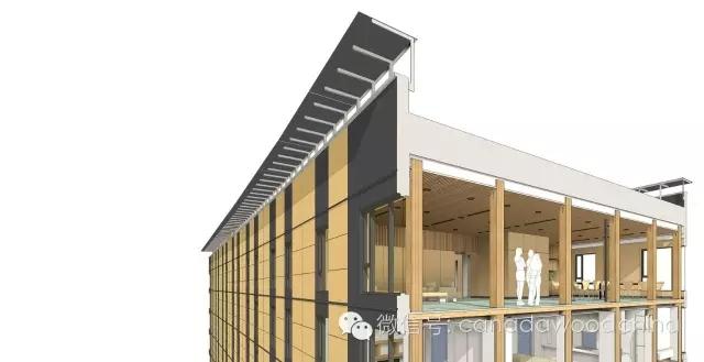 目前,这栋为于加拿大ubc大学的全球最高全木结构大楼common brocks正