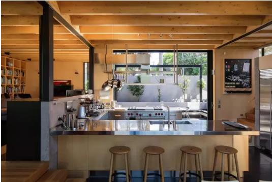 首页 图片 住宅 > 新西兰habitus钢木结构别墅  厨房和盥洗室并不例外