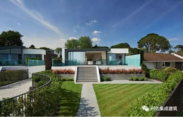 国外钢结构别墅:英国海景小住宅