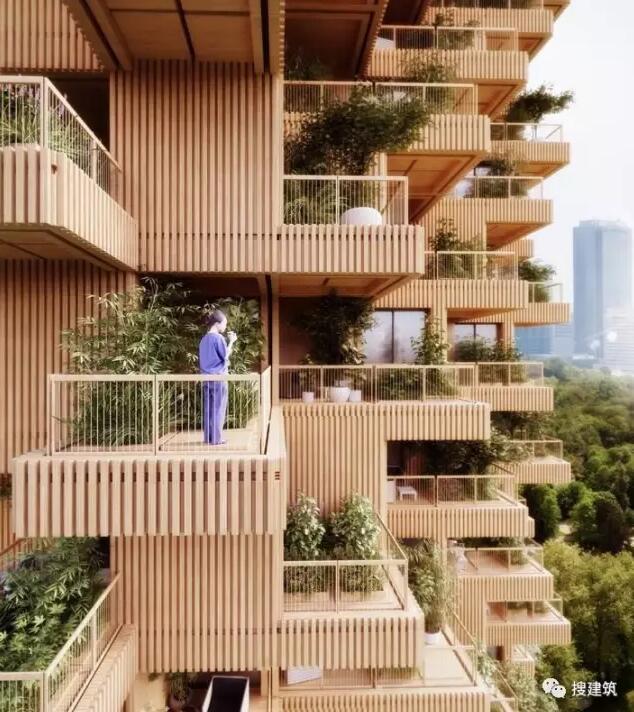 """一座18层高的木结构住宅楼,另类""""森林城市""""的做法"""