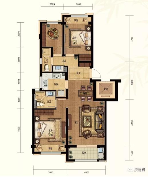 90平别墅户型设计图